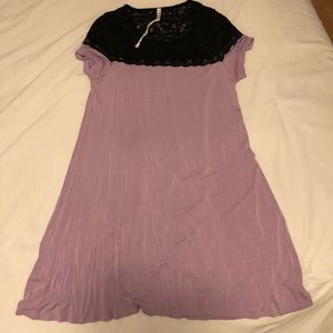 Lavender and lace pink blush maternity dress